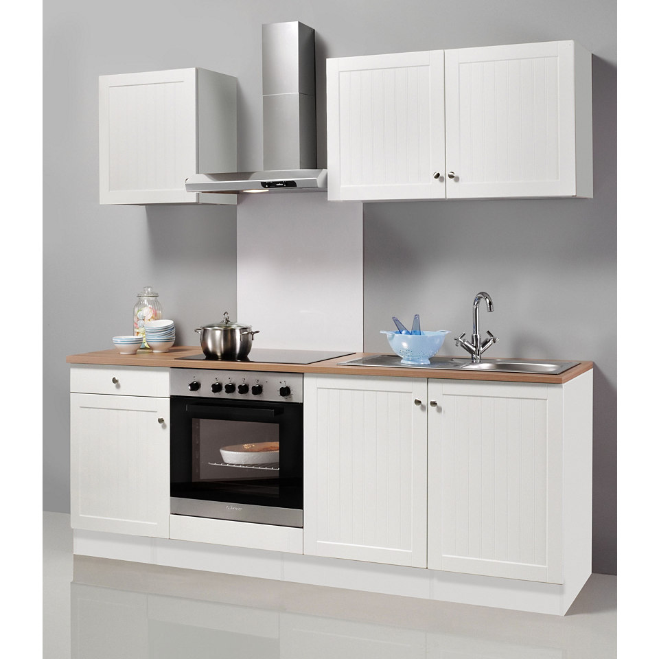 Küchenzeile Bornholm, Breite 210 cm, inkl. E-Geräte, Set 1