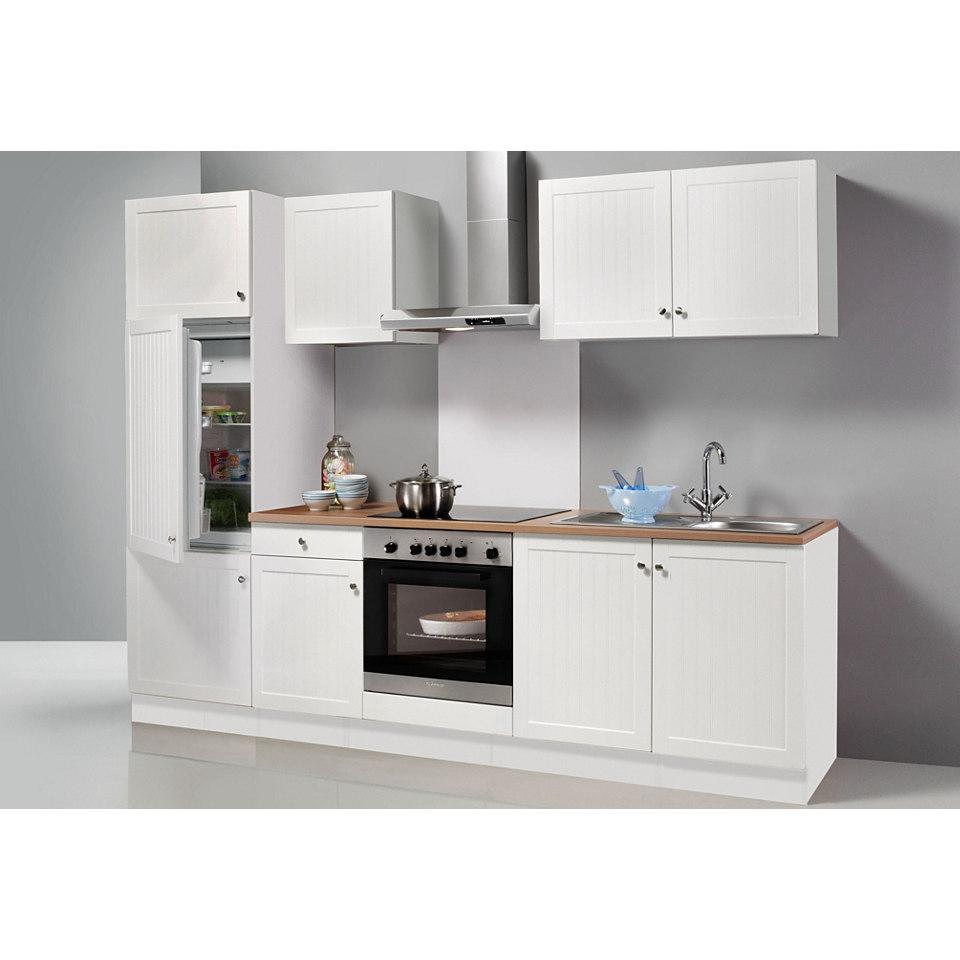 Küchenzeile Bornholm, Breite 270 cm, inkl. E-Geräte, Set 1