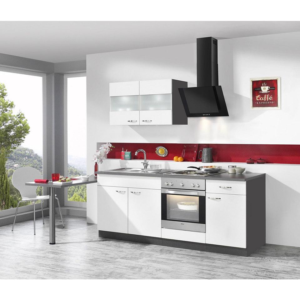 Küchenzeile Dakota inkl. E-Geräte, Breite 210 + 60 cm
