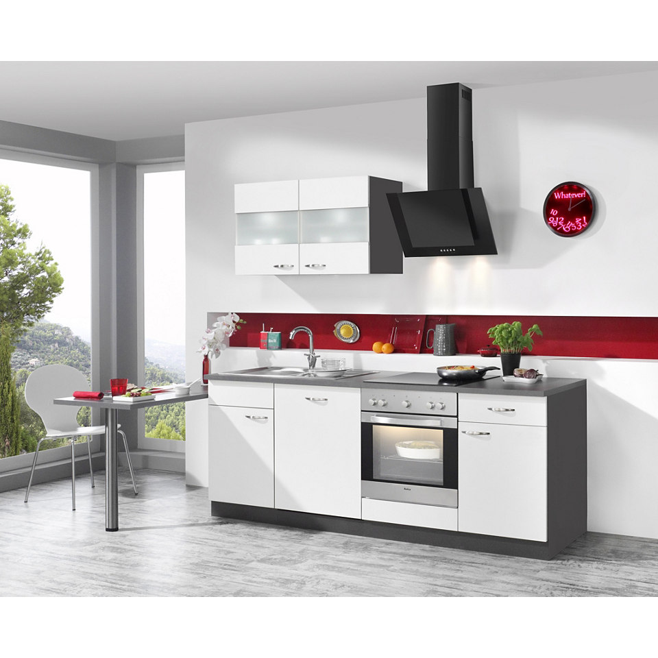 Küchenzeile Dakota inkl. E-Geräte, Breite 220 + 60 cm