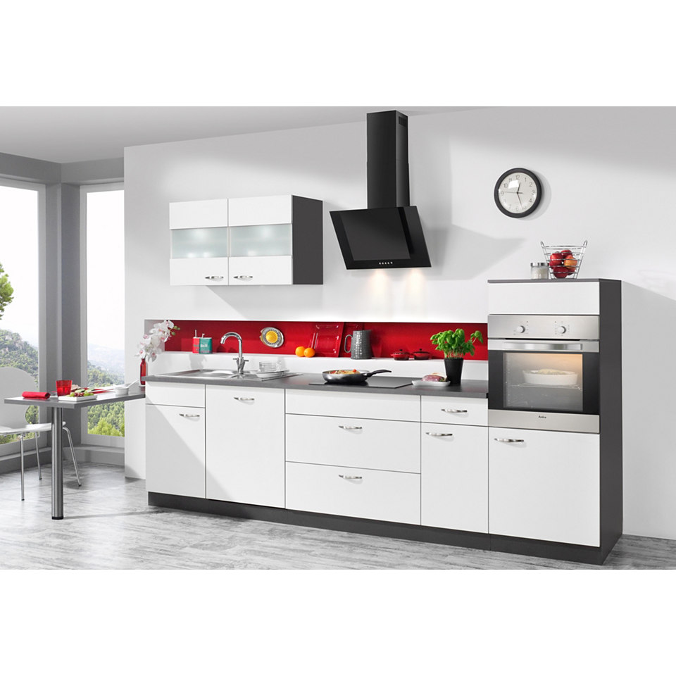 Küchenzeile Dakota inkl. E-Geräte, Breite 300 + 60 cm