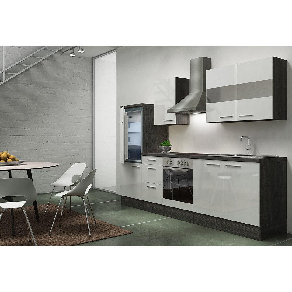 Küchenzeile »Emily«, Breite 270 cm, Korpus Eiche-Grau Dekor, Set 1