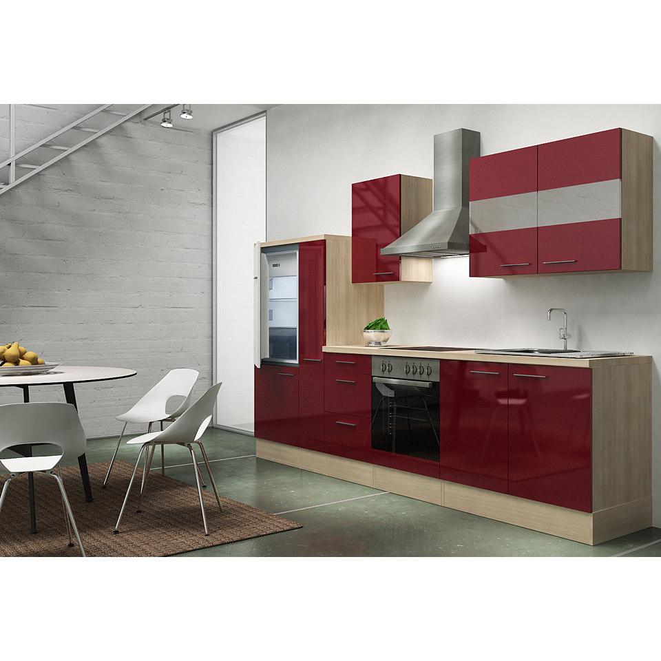 Küchenzeile »Emily«, Breite 300 cm, Korpus Akazie Dekor, Set 2