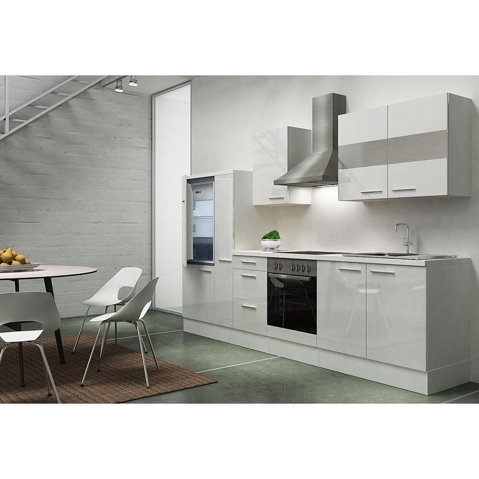 Küchenzeile »Emily«, Breite 300 cm, Korpus weiß, Set 2