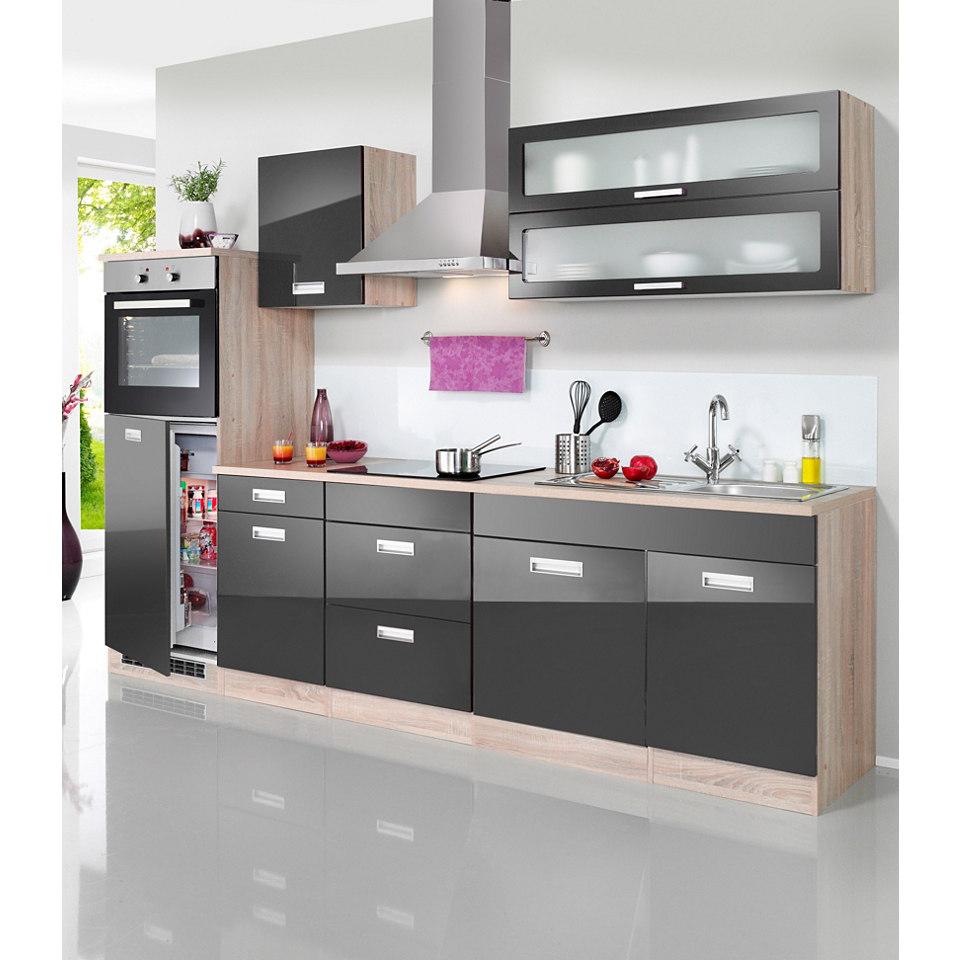 Küchenzeile »Fulda«, Breite 270 cm, mit autarken Elektrogeräten