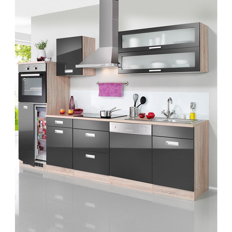 Küchenzeile »Fulda«, Breite 280 cm, mit autarken Elektrogeräten