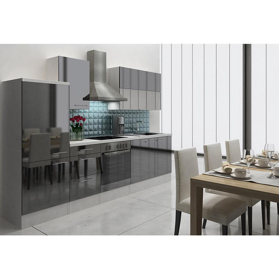Küchenzeile »Lea«, Breite 280 cm, Korpus weiß, Set 1