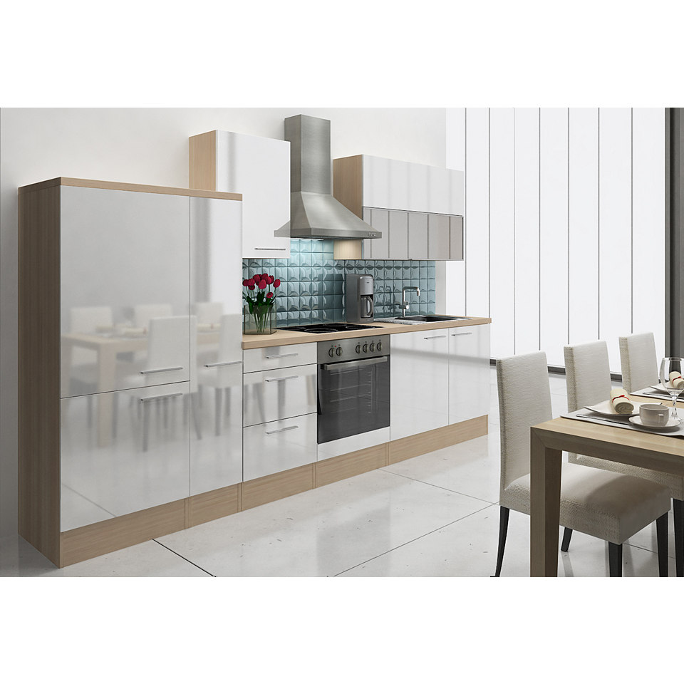 Küchenzeile »Lea«, Breite 310 cm, Korpus Akazie Dekor, Set 2