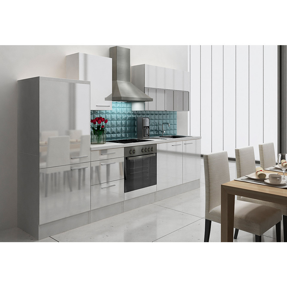 Küchenzeile »Lea« mit E-Geräten, Breite 280 cm, mit E-Geräten