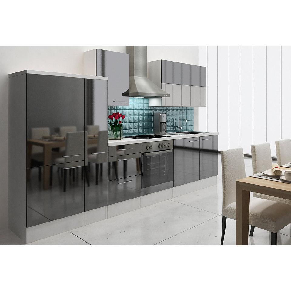 Küchenzeile »Lea« mit E-Geräten, Breite 310 cm, mit E-Geräten