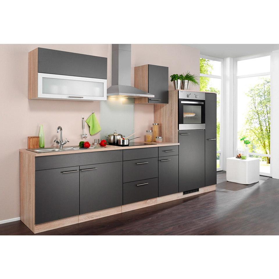 Küchenzeile »Montana« mit Elektrogeräten, Breite 290 cm