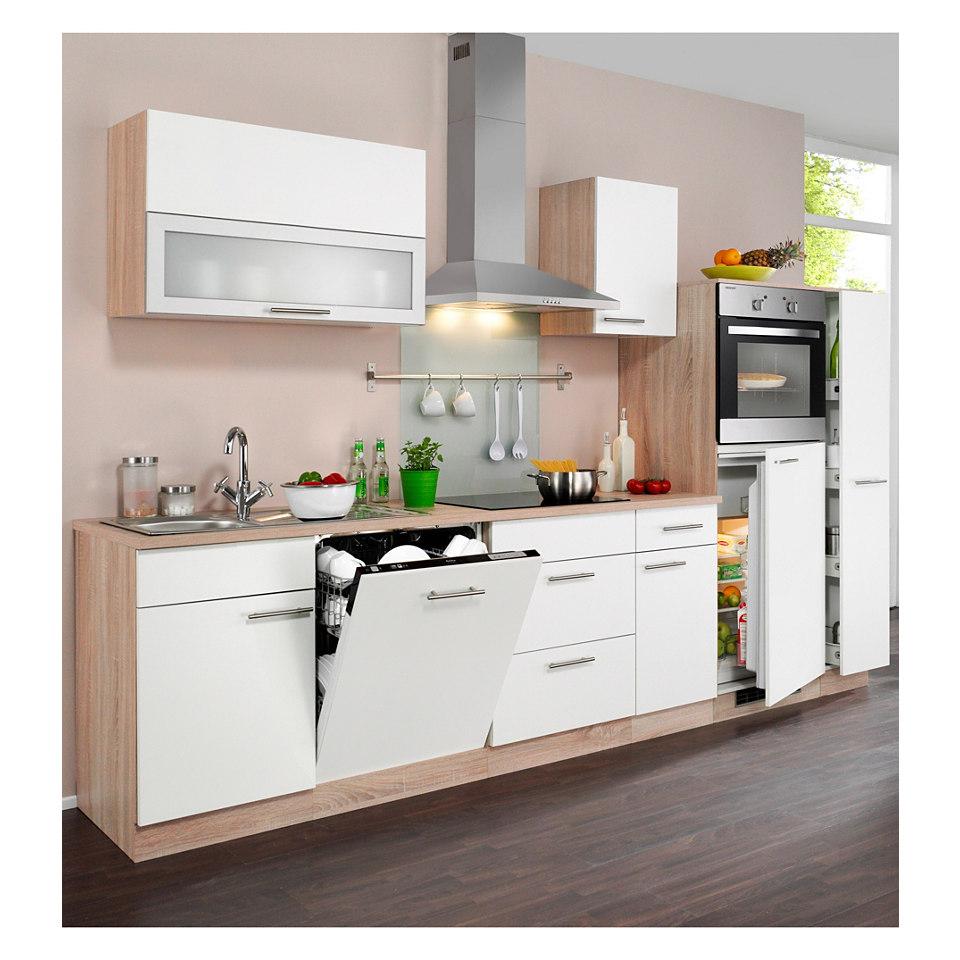 Küchenzeile »Montana« mit Elektrogeräten, Breite 300 cm
