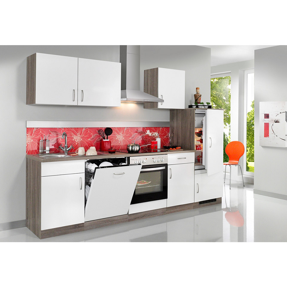 Küchenzeile »Porto«, Breite 280 cm, inkl. Elektrogeräte