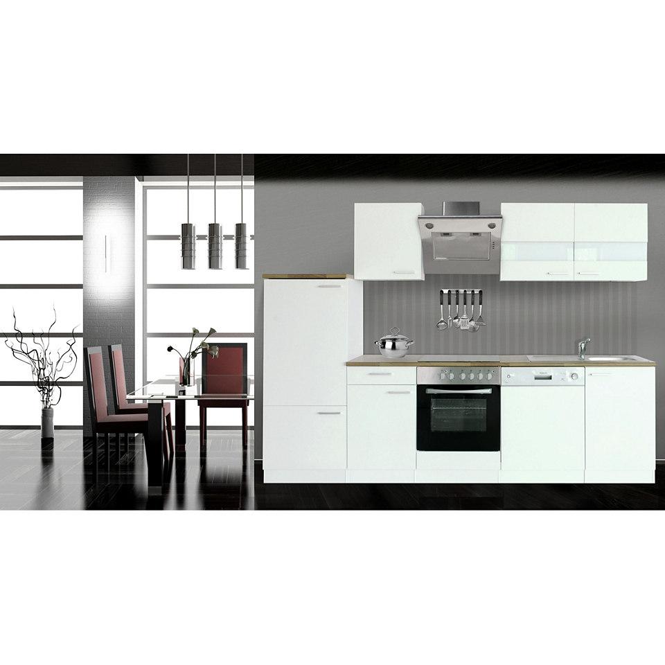 Küchenzeile »Respekta Economy«, Breite 280 cm, Korpus weiß, Set 1