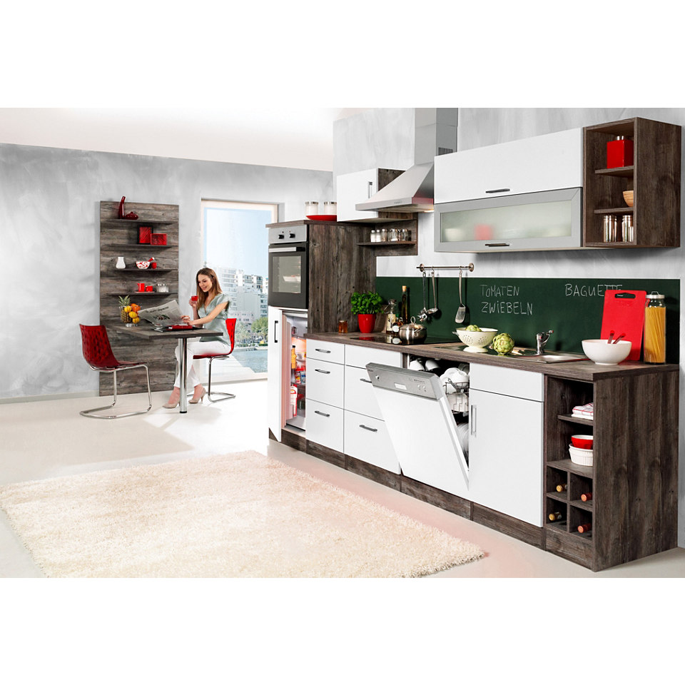 Küchenzeile »Sevilla« Set 5: 310 cm, mit Induktions-Kochfeld
