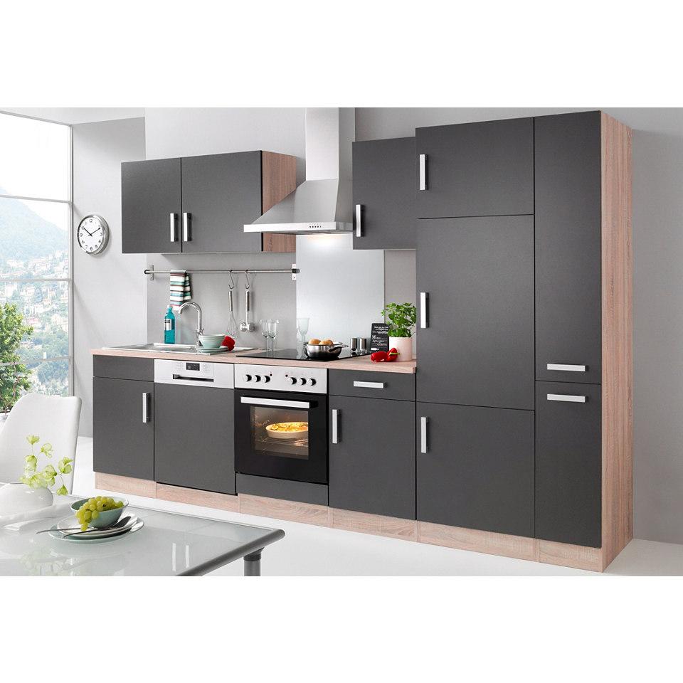 Küchenzeile »Toronto« mit E-Geräten, Gesamtbreite 310 cm