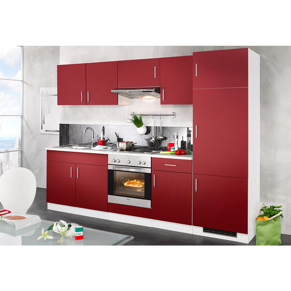 Küchenzeile »Valencia«, mit Elektrogeräten, Breite 270 cm