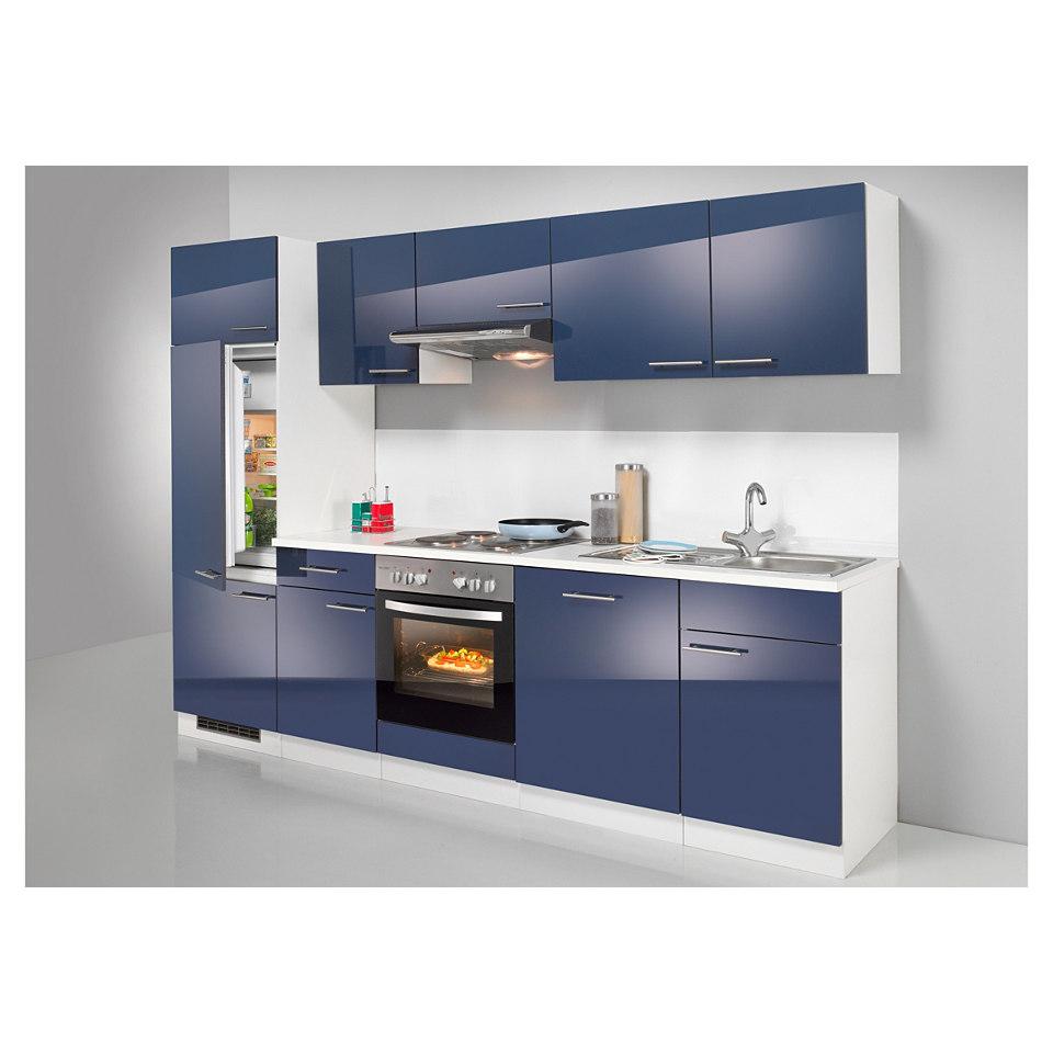 Küchenzeile »Valencia«, mit Elektrogeräten, Set 1: 270 cm