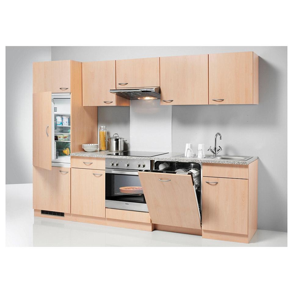 Küchenzeile »Valencia«, mit Elektrogeräten, Set 2: 280 cm