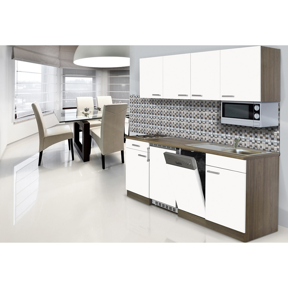 Küchenzeile »York« mit E-Geräten, Breite 195 cm