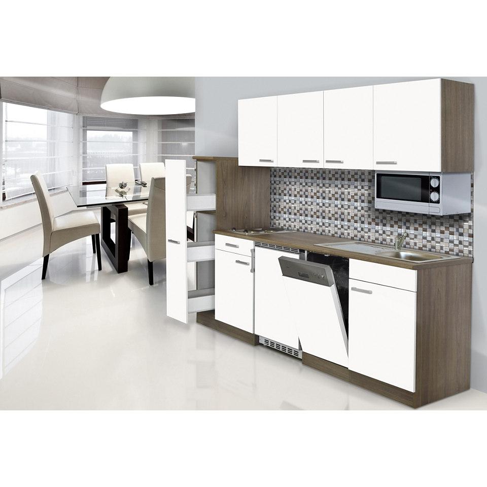 Küchenzeile »York« mit E-Geräten, Breite 225 cm