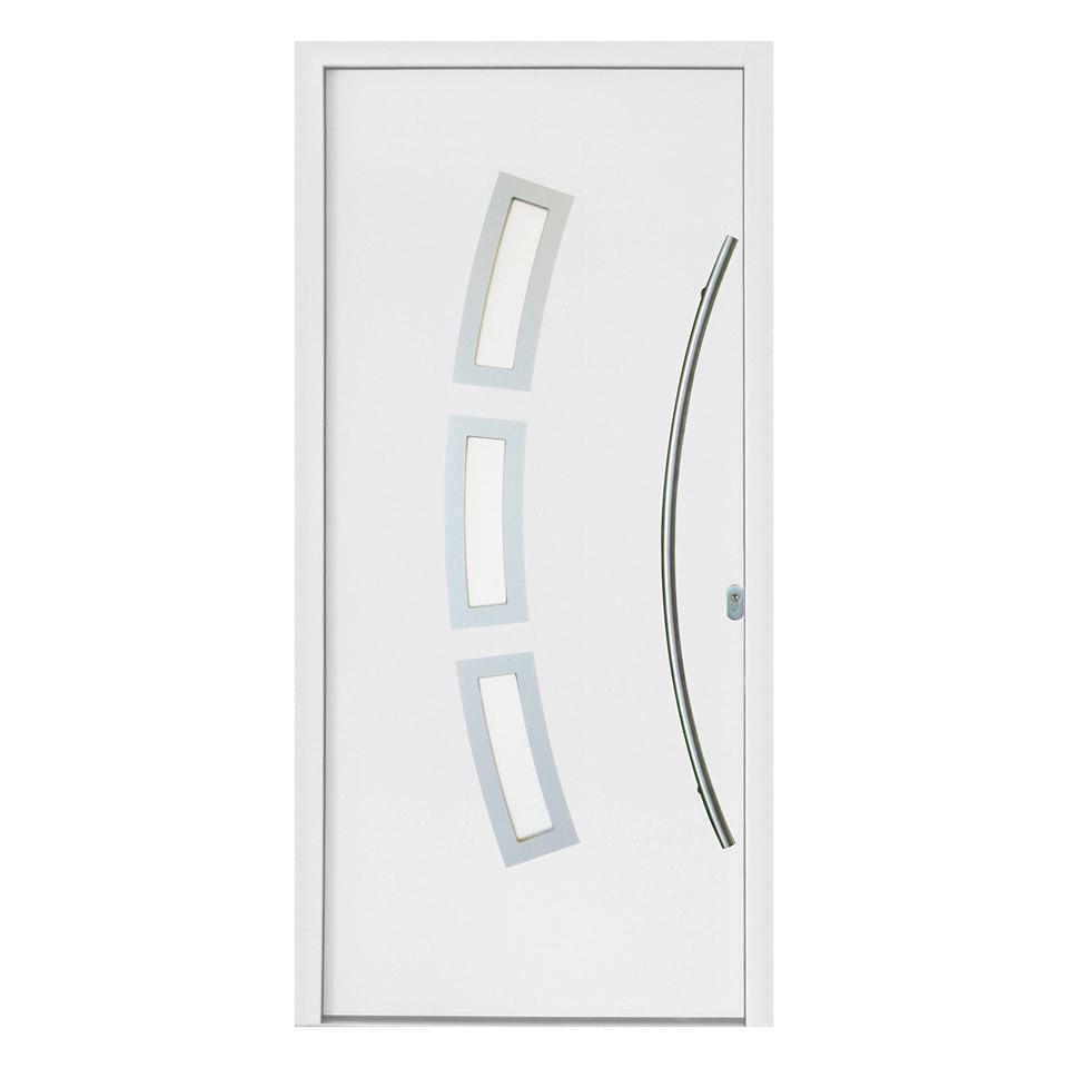 Kunststoffhaustür »2« mit 3 Fenstern, weiß