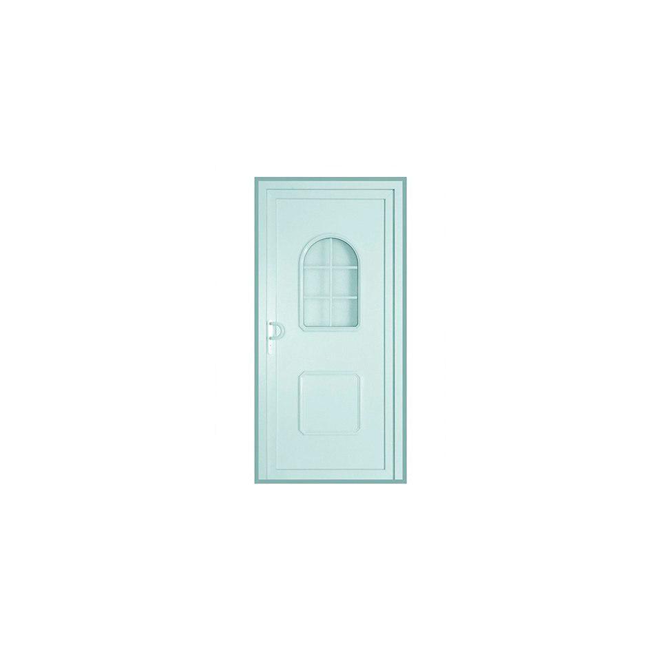 Kunststoffhaustür, weiß, 1 Fenster