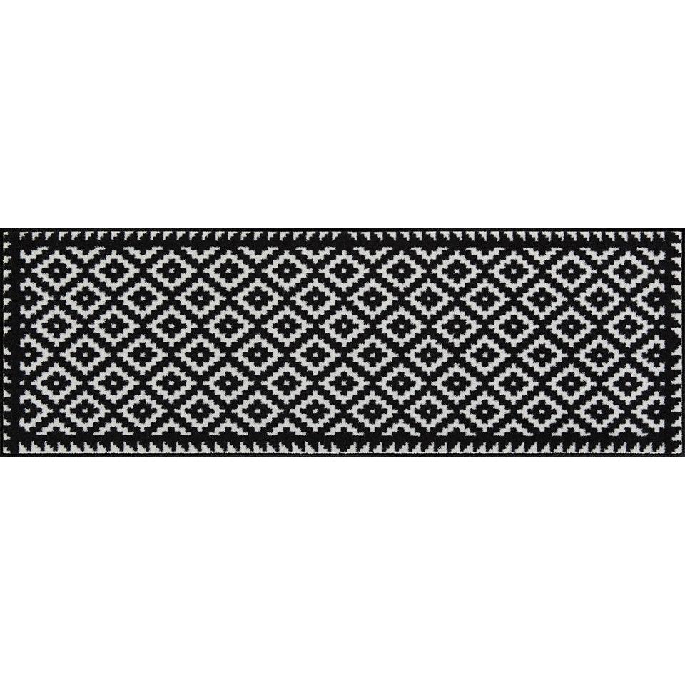 Läufer, Salonloewe, »Tabuk Black&White«, Waschbar,In- und Outdoor mit rutschhemmender Beschichtung