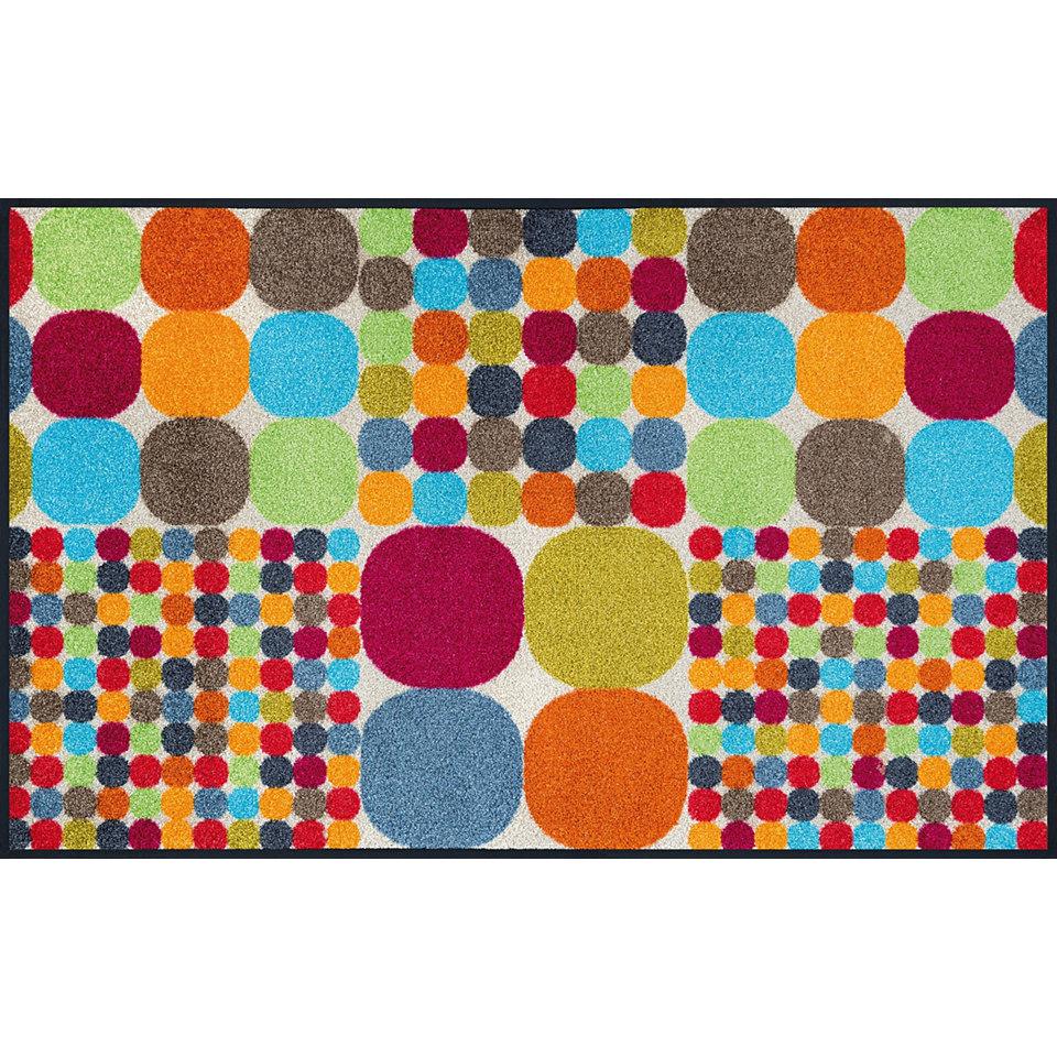 L�ufer, wash+dry by Kleen-Tex, In- und Outdoor, �Mikado Big Dots�, waschbar