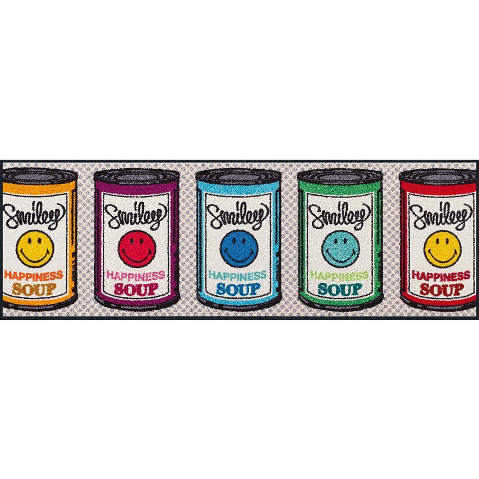 Läufer, wash+dry by Kleen-Tex, In- und Outdoor, »Smiley Happiness Soup«, waschbar