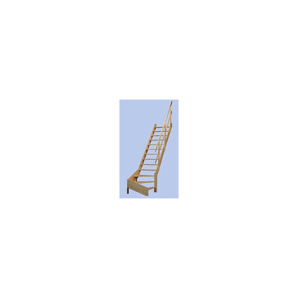 Massivholz-Wangentreppe »Korfu«, ¼ gewendelt, mit Holzgel