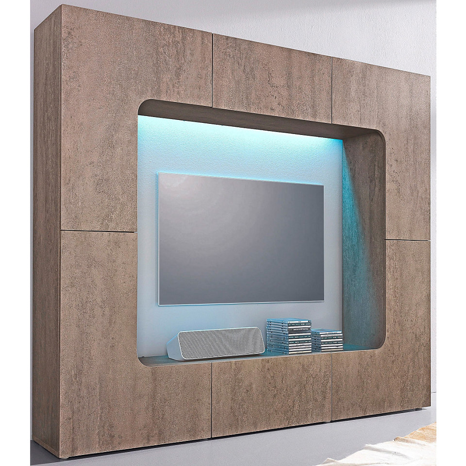 Media-Wand, Breite 175 cm