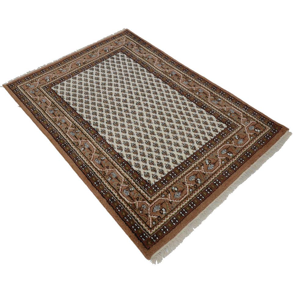 Orient-Läufer, Parwis, »Indo Mir Ghalip«, 4 kg/m², 75 000 Knoten/m², handgeknüpft, reine Schur