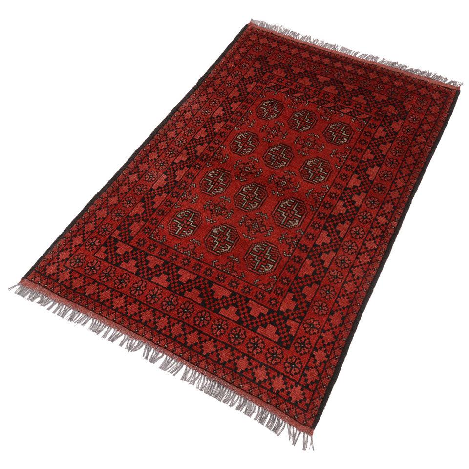 Orient-Teppich, Parwis, �Afghan Bouchara�, 90 000 Knoten/m�, handgekn�pft, reine Schurwolle