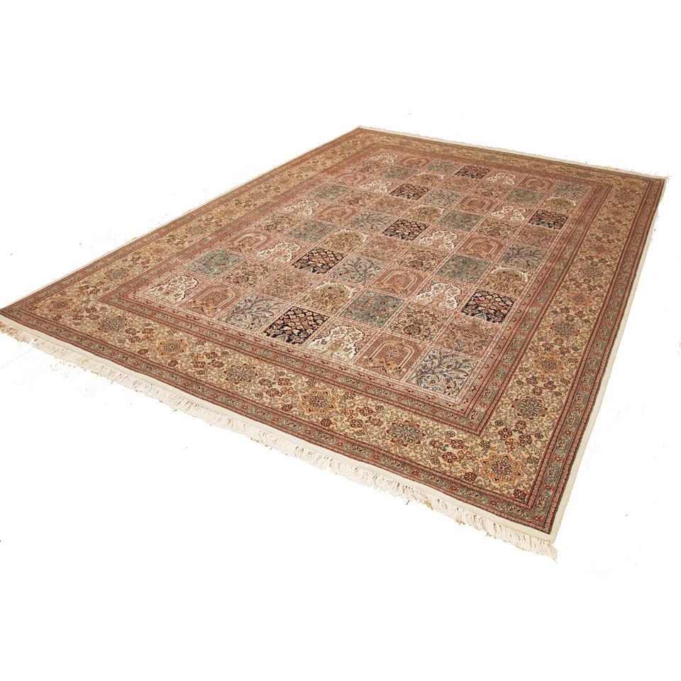 Orient-Teppich, Parwis, »Gohm Exclusive«, Handgeknüpft, Fein glänzend, Seidenanteil, 320 000 Knoten/m²