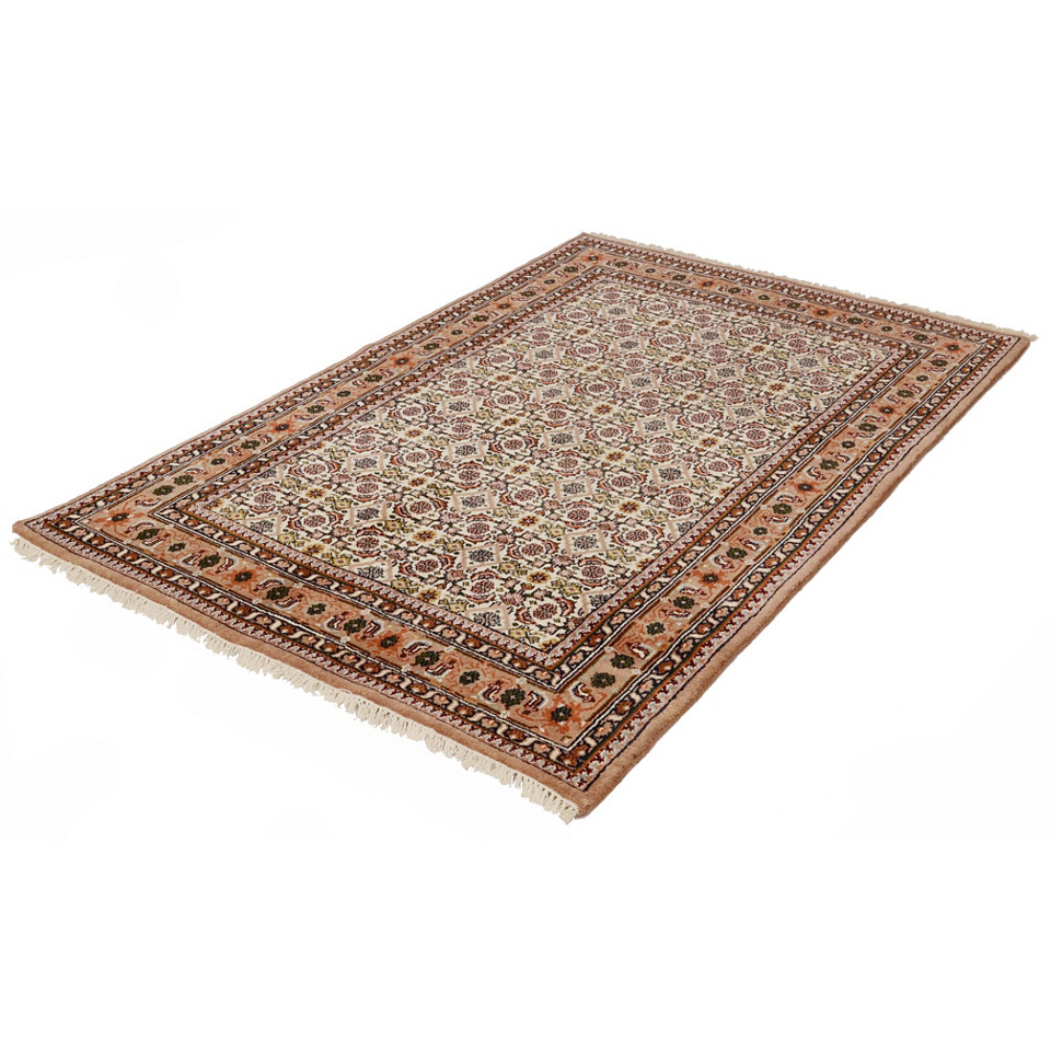 Orient-Teppich, Parwis, »Herati Ghalip«, 4 kg/m², 75 000 Knoten/m², handgeknüpft, reine Schurwolle