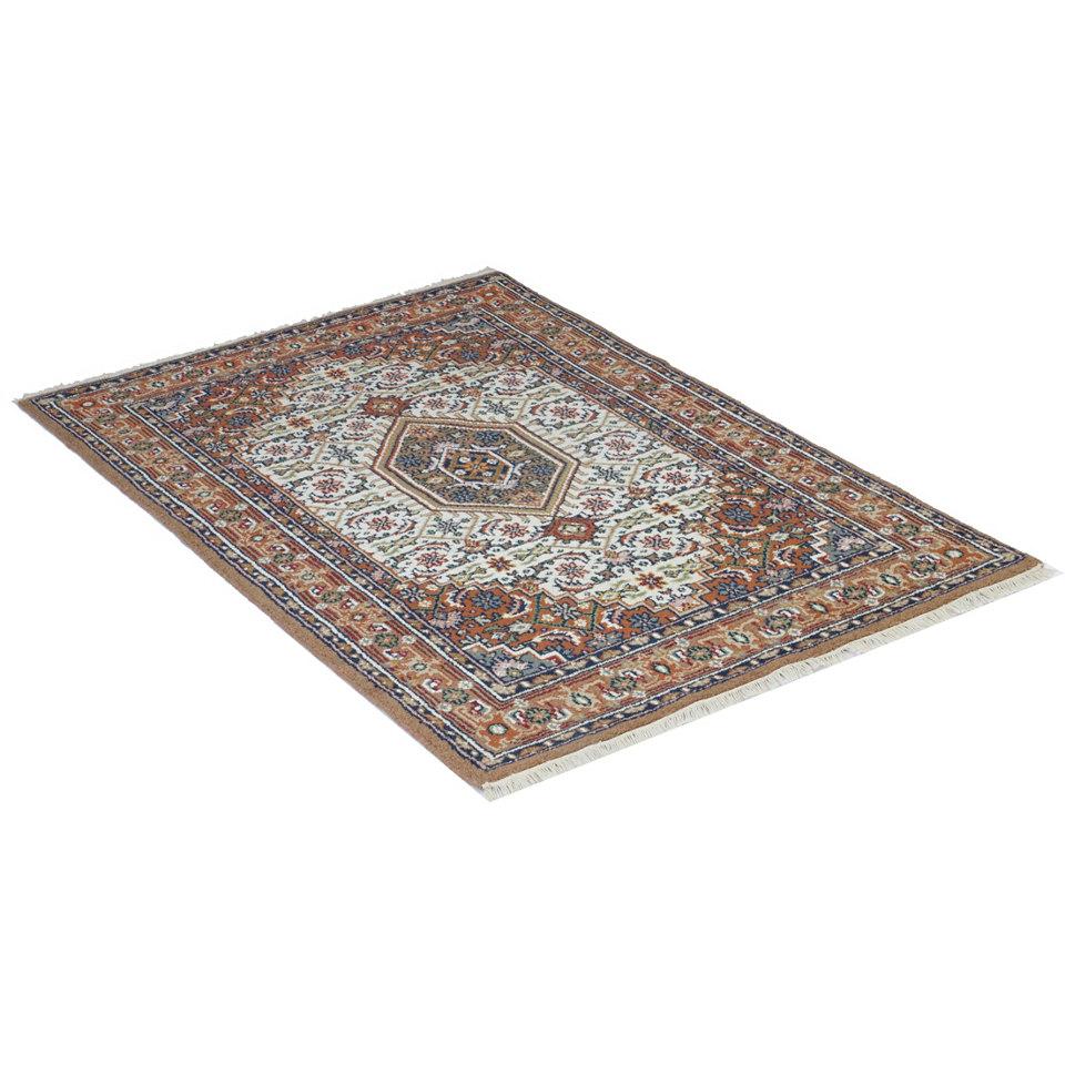 Orient-Teppich, Parwis, »Indo Bidjar Ghalip«, 4 kg/m², 75.000 Knoten/m², handgeknüpft, reine Wo