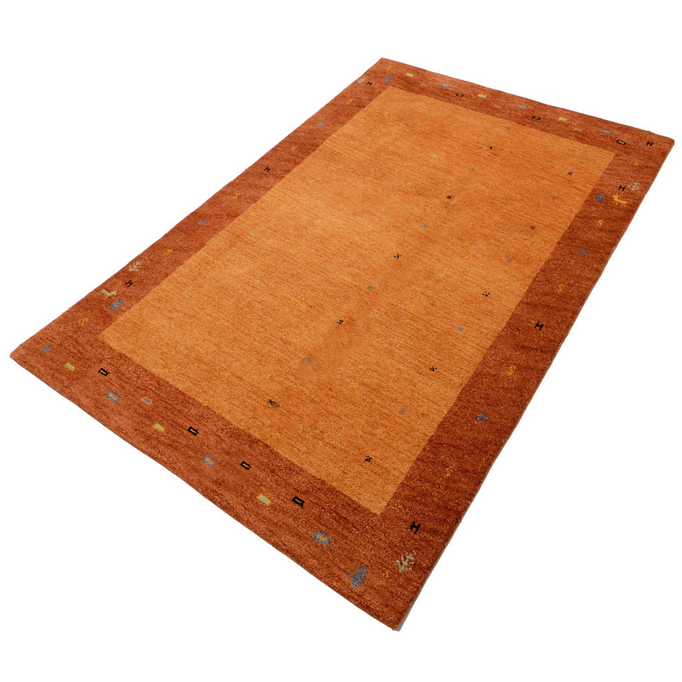 Orient-Teppich, Parwis, »Indo Gabbeh Daria«, 54 000 Knoten/m², 4 kg/m², handgeknüpft, reine Schurwolle