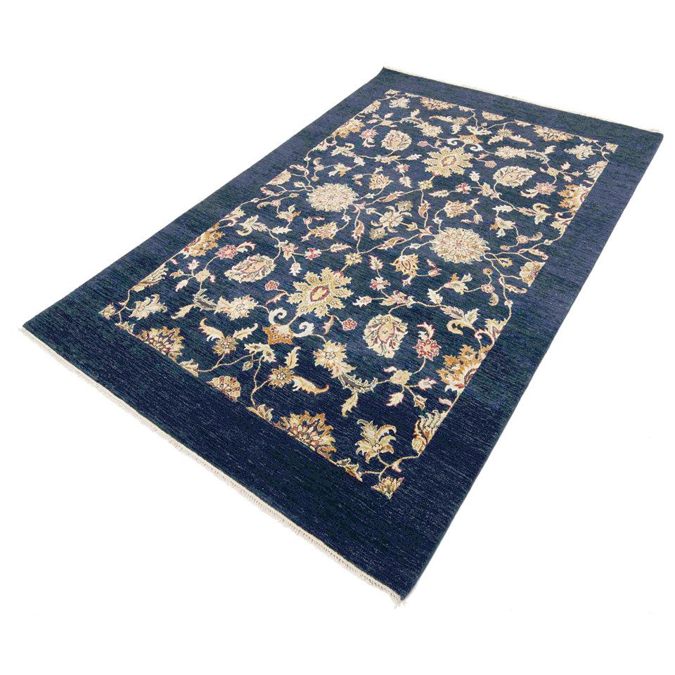 Orient-Teppich, Parwis, »Kejani Royal Ziegler«, 4 kg/m², 160 000 Knoten/m², handgeknüpft, reine Schurwolle