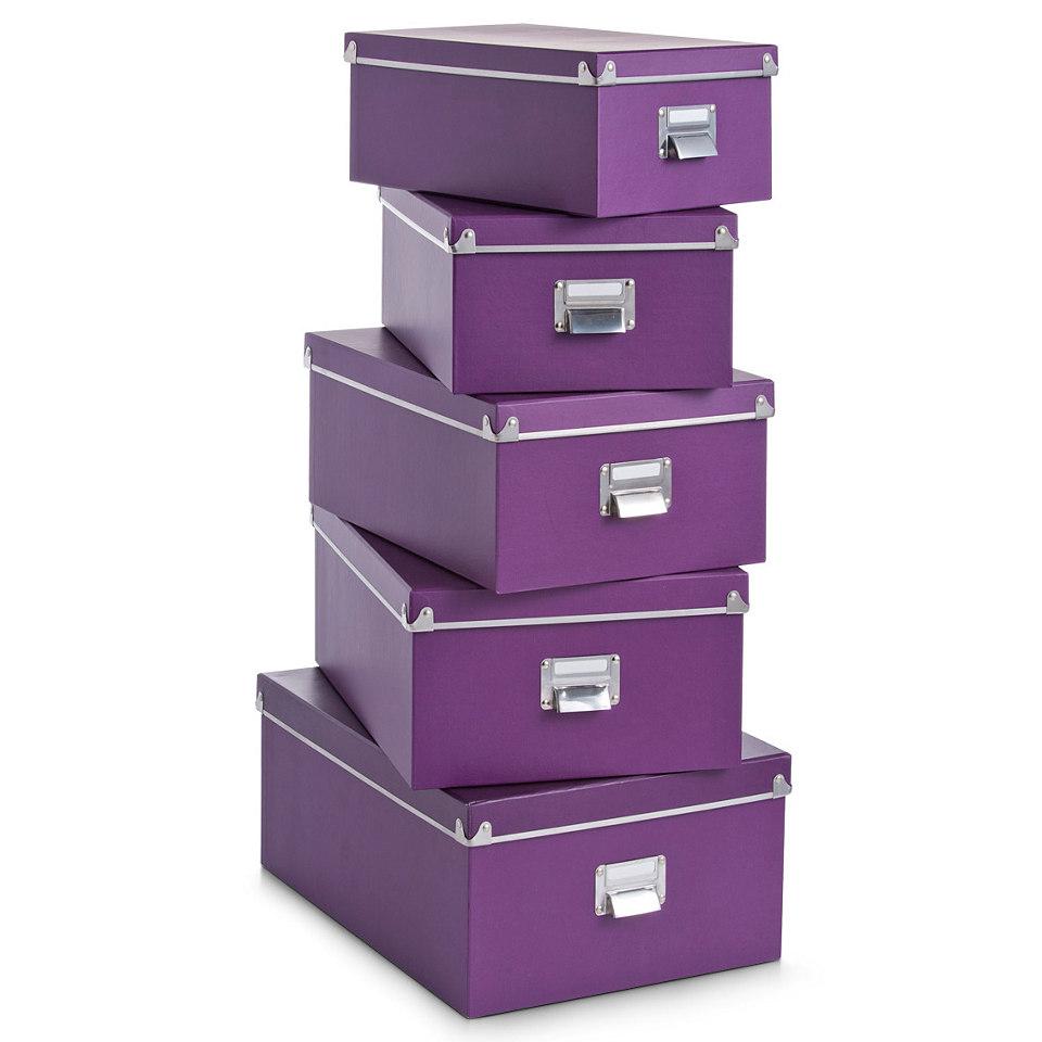 Papp-Boxen-Set (5-tlg.)