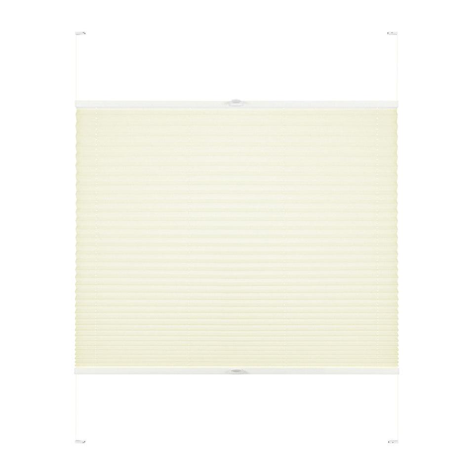 Plissee-Faltenstore nach Wunschmaß, Good life, »Rena« (1 Stück)mit weißen Profilen