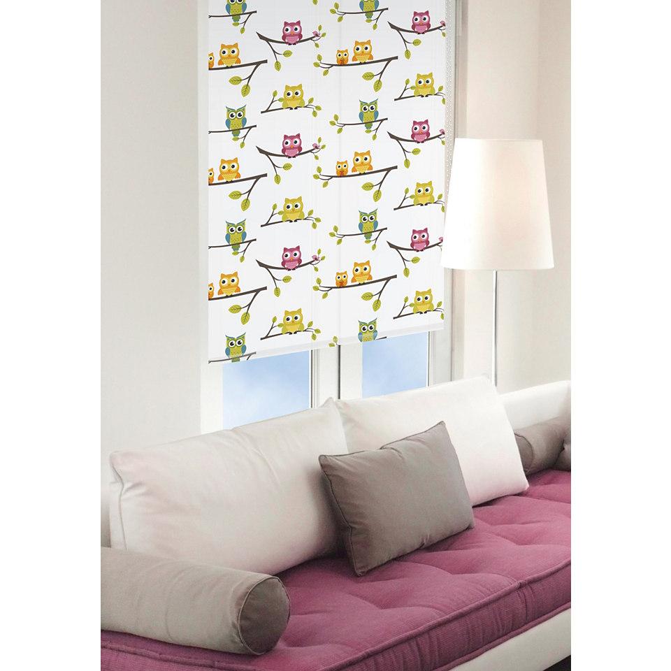 Print-Fensterrollo, Good Life, »owl«, Lichtschutz, im Fixmaß (1 Stück)