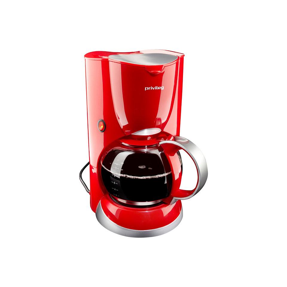 Privileg Kaffeemaschine, rot