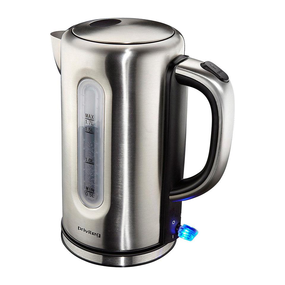 Privileg Wasserkocher Edelstahl, 1,7 Liter, max 2400 Watt