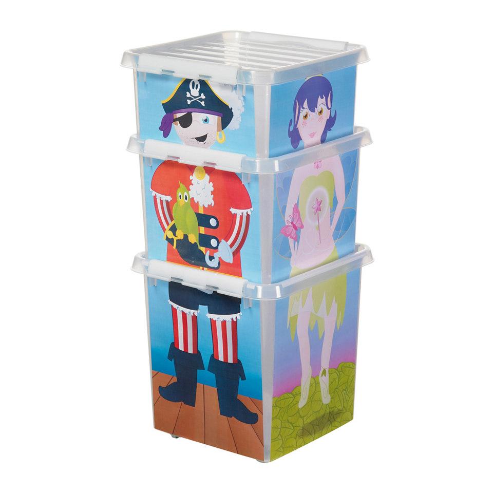 Puzzle-Aufbewahrungsboxen, 3er Set