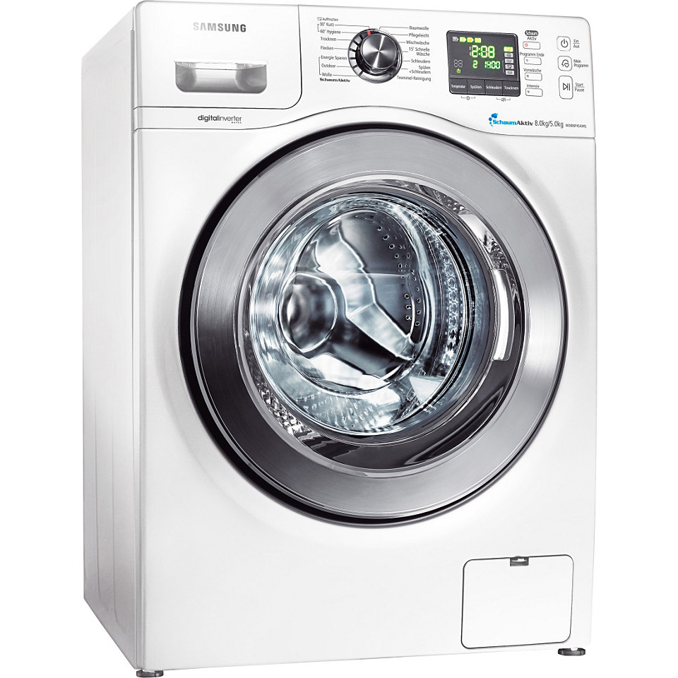 Samsung Waschtrockner WD806P4SAWQ/EG, B, 8 kg / 5 kg, 1400 U/Min