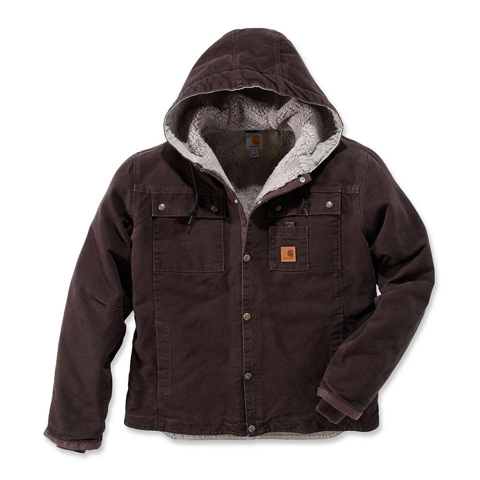 Sandstone Hooded Multi Pocket Jacke