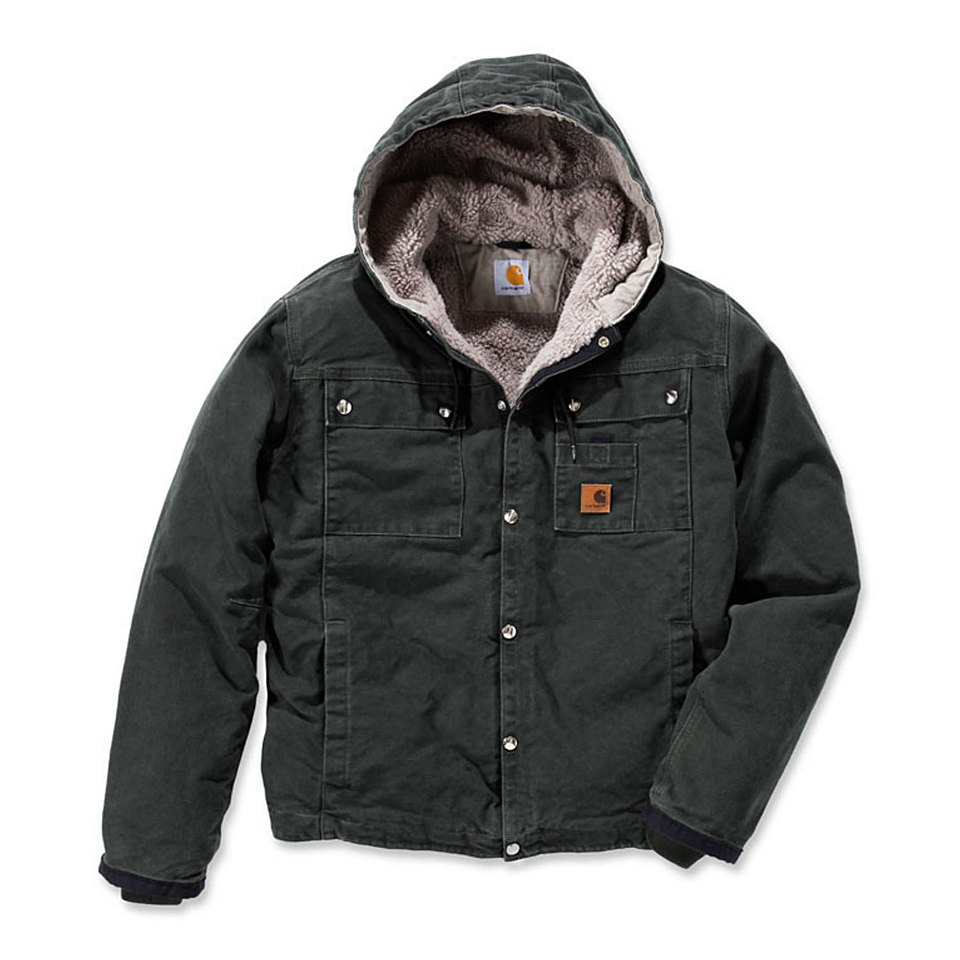 Sandstone Hooded Multi Pocket Jacke