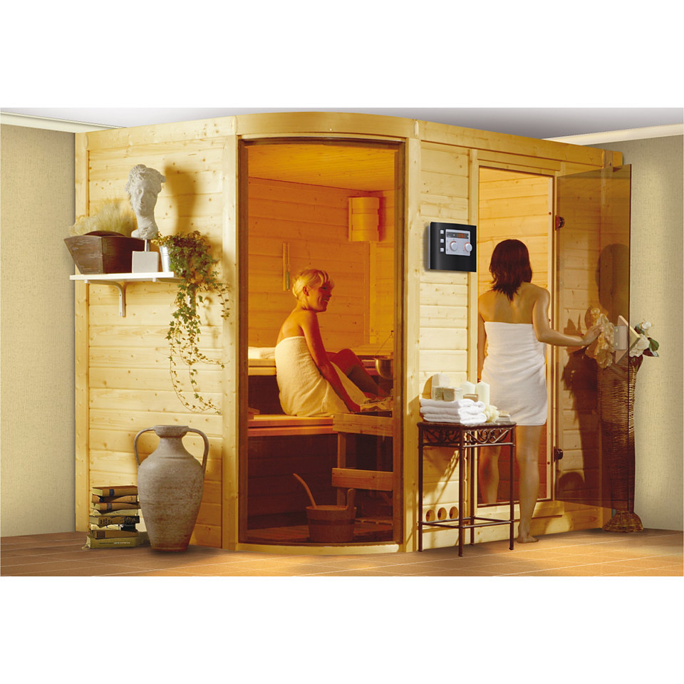 Sauna »Rondira 2«, 40 mm Wandstärke