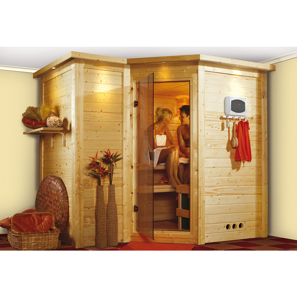 Sauna »Sahib 2«, 40 mm Wandstärke